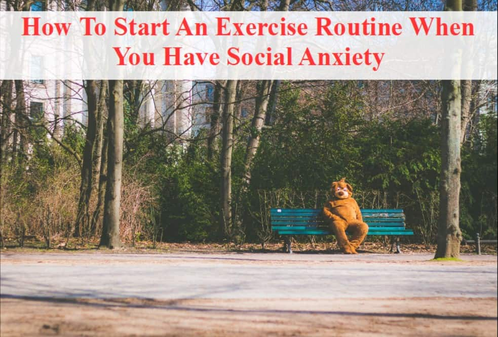title pic how to start exercise when you have social anxiety