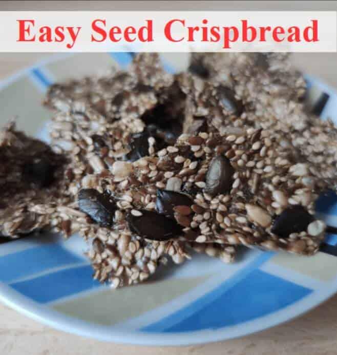 seed crispbread on plate