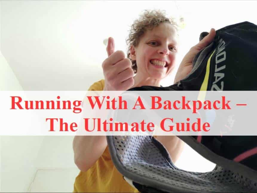 Title Pic for article running with a backpack