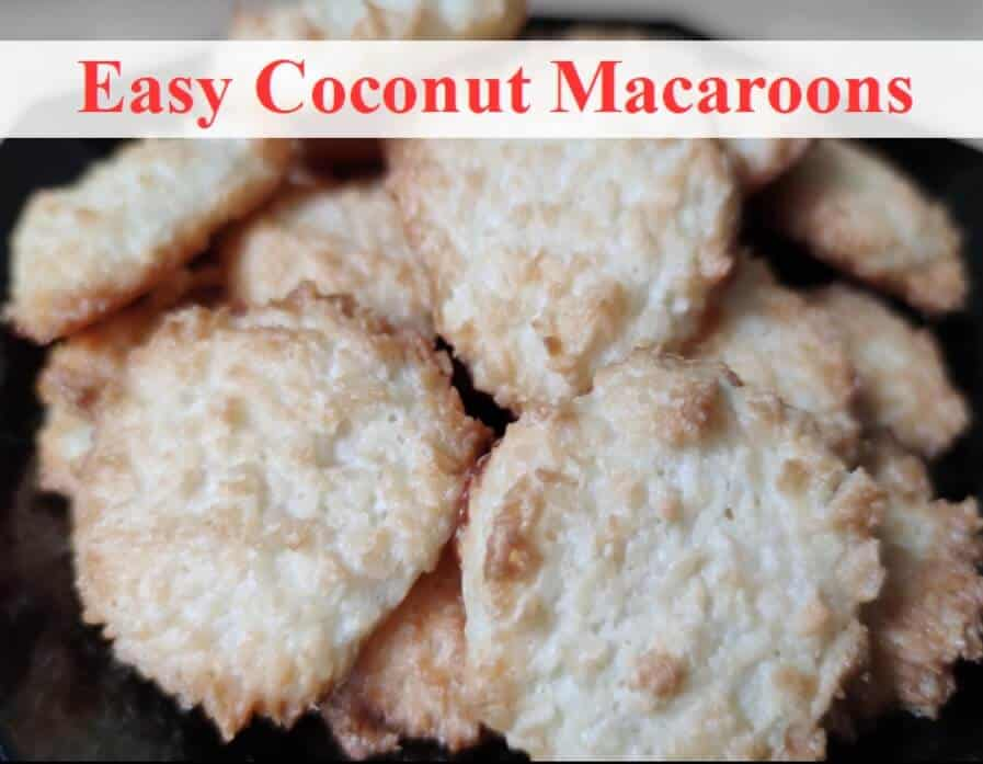 coconut macaroons on plate